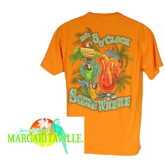 b8315355 Margaritaville Shirts | Shirt 5 Oclock Somewhere M Orange | Poshmark